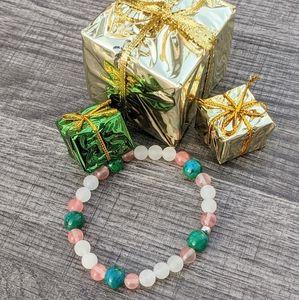 Quartz,Tourmaline & Chrysocolla Bracelet